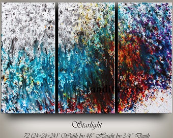 Original Art Acrylic Abstract painting, Contemporary Art, Wall Art,  Modern Art for sale Large modern art Turquoise Art Nandita