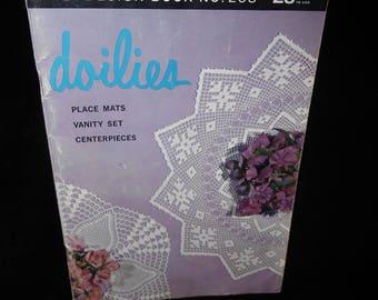 Crochet Booklet Doilies Lily Design Book 208 Placemats Vanity Sets Centerpieces
