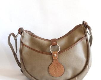 on sale Beige shoulder bag, vintage, made in France, Jacques Estérel