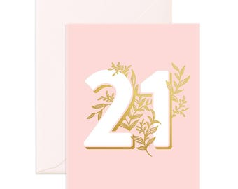 No. 21 Floral Greeting Card