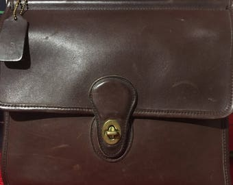 Vintage Chocolate Coach Purse