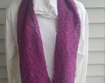 cotton light weight flowing scarf, lacey scarf, woman's scarf (purple)
