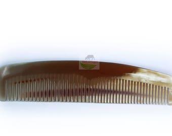 C003 Hair Comb Handmade From Cattle Horn