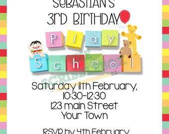 Play School Birthday Invitation