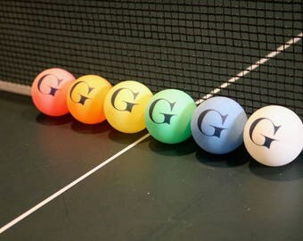 CUSTOMIZED PERSONALIZED Ping Pong/Table Tennis Balls-High Quality,Game Ready-A Gift That's a Hit!