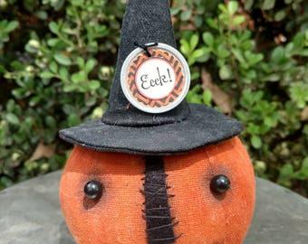 Herminee, our prim pumpkin witch