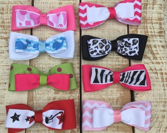 SALE Hair Bows - Set of 8 hairbows
