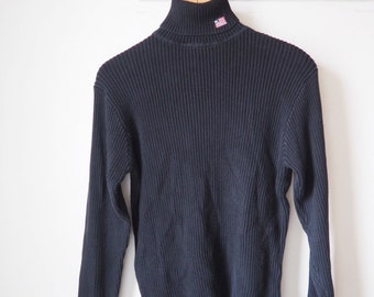Turtleneck black Ralph Lauren vintage-90's