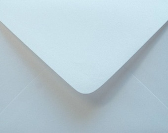10 BABY BLUE metallic envelopes C6  for cards and invitations / light pink envelope for wedding invitations / baby shower