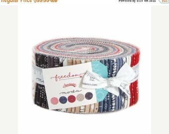 Anniversary Sale Freedom Jelly Roll 40 2.5-inch Strips Moda Fabrics~Fast Shipping,JR330