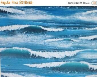 Summer Sale- Landscape Medley~Ocean Water~Cotton Fabric~Elizabeth's Studio~Fast Shipping SB309