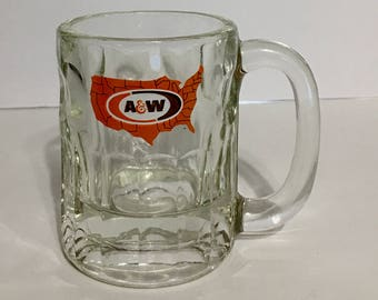 Vintage Small A & W Root Beer Mug