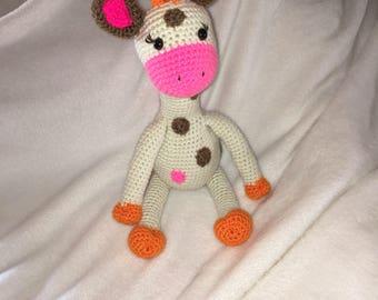 Crocheted Giraffe Amigurumi toy -Made To Order