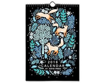 PRE ORDER 2018 Flora & Fauna Wall Calendar