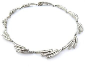 Necklace Esha Randel Art Deco German Crystal Collar Necklace Filigree Detail