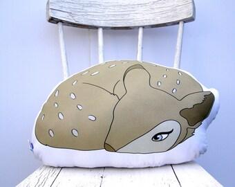 Deer Pillow, decorative pillow, animal shaped,  woodland rustic home decor Animal Plush, Animal Pillows, Deer Cushion, Woodland Plushie,Deer