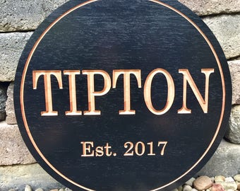 Outdoor Wood Carved Sign, Circle Address Plaque, Outdoor Address Sign, Carved Wood Sign, Custom Wood Sign, Wooden House Sign, Address Plaque