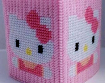 HELLO KITTY 2 -  Boutique Size Tissue Box Cover - Girls Bedroom Decor - Kitty