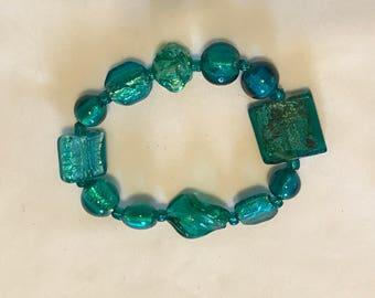 Teal stretch bracelet