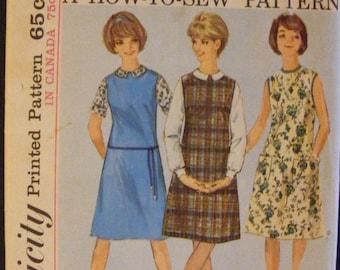 "41% OFF 1963 Misses' Jumper Dress Blouse Vintage Simplicity Sewing Pattern 5384 Size 14 Bust 34"""