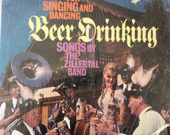 For Singing and Dancing Beer Drinking Songs by The Zillertal Band - vinyl record