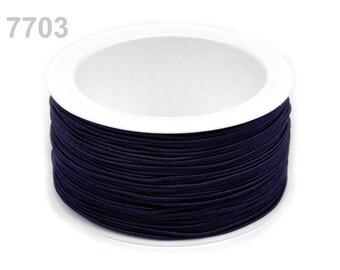 3 m elastic round 1.2 mm Blue Navy 7703