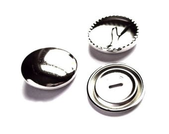 5 buttons 38 mm includes silver decoration
