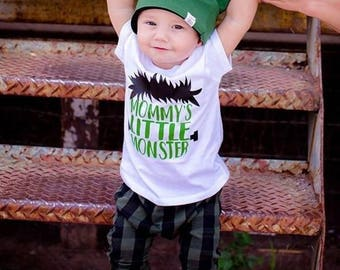 Halloween Shirt for boys, Mommy's Little Monster, 1st Halloween, Boys Halloween tee, Toddler Halloween Shirt, I've created A little monster