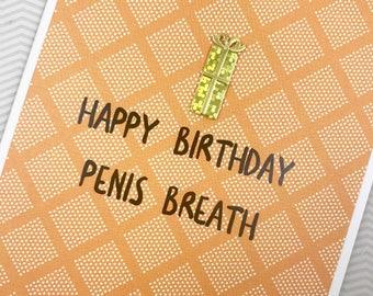 Birthday Penis Breath card