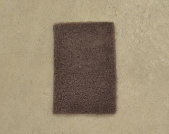 "Milk Chocolate Shearling Hide Wool 4"" x 6"" Project Piece TA-55906 (Sec. 1,Shelf 6,D,Box 1)"