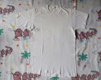 Vintage 70's Plain White T shirt, size Small by JC Penny super soft Thrashed