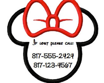 28 Personalized Minnie Emergency Contact/Safety Tattoos