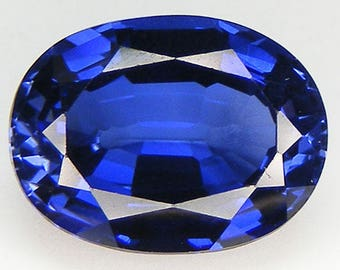 BLUE SAPPHIRE 9X7 MM OVAL CUT CAB BLUE COLOR AAA SOLD EACH