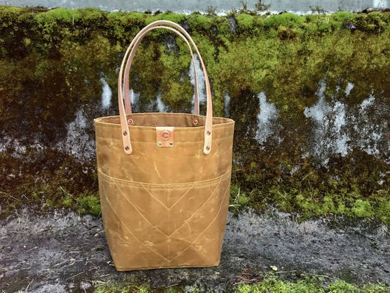 Custom Sophie - Over the shoulder waxed canvas tote