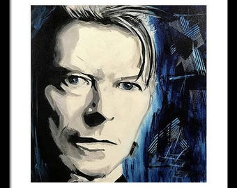 "Limited Edition Print. "" David Bowie "" Wall art, painting. print"