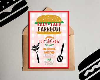 Barbecue Invitation, Backyard Barbecue Invitation, BBQ Invitation, Cookout Invitation, Printable Barbecue