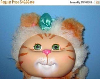 SALE Cabbage Patch Kids, Adopt and Luv, Orange Tiger Striped, Pet Cat Vintage