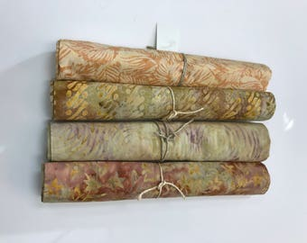 MAJESTIC BATIK BUNDLE - 4 Yards of Batiks from Majestic Batiks - Shades of Beige  #24