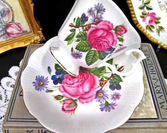 Royal Albert Tea Cup and Saucer Pink Rose Floral Teacup Cup & Saucer BR