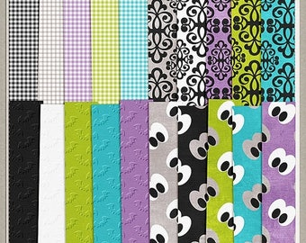 ON SALE NOW 65% off Boo Halloween Digital Scrapbook Extra Paper Pack