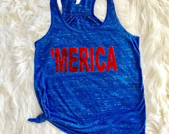 4th of July 'Merica Tank Top | Blue