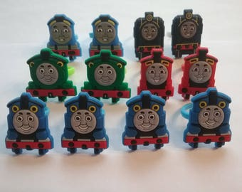 Thomas the Train Tank Engine  Rings Party Favors Cupcake Toppers 12 Pieces