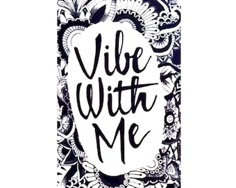Womens Vibe With Me White Fitted Crew Neck T-shirt | Soul Tees | Melanin Fashion T-shirts