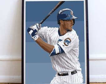 Kris Bryant Chicago Cubs Art Print