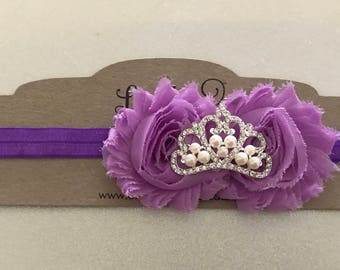 Princess Inspired Headband-purple princess headband-pink princess headband-birthday headband-princess birthday headband-princess party