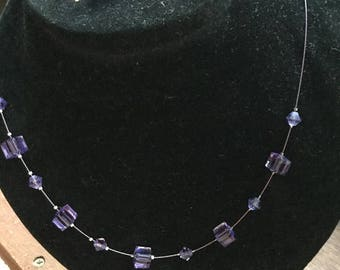 Swarovski Crystal necklace with free single drop earrings