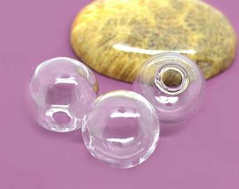 for earrings 16mm glass globe