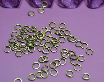 200 4mm jump rings bronze