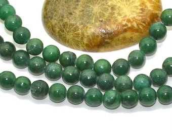 10 African 6mm Green turquoise beads