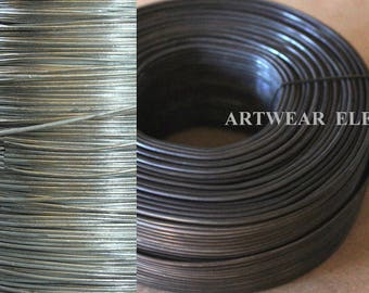 Bangle Wire, 16 ga Black or Silver Annealed Steel Wire, Different Lengths, Bangle Wire, Bracelet Wire, Wire, Bulk Wire, Artwear Elements